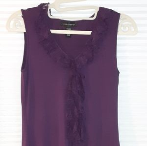 Purple Cable & Guage Sleeveless Top